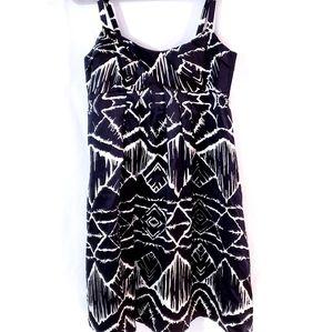 Cynthia Steffe Silk Black White Strap Dress